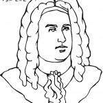 דף צביעה המוזיקאי ג'ורג' הנדל