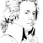 דף צביעה המלחין מוצארט