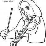 דף צביעה נגן הכינור פגניני