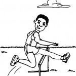 דף צביעה תחרות ריצת מכשולים