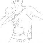 דף צביעה הדיפת כדור באולימפיאדה