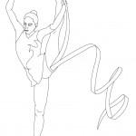 דף צביעה התעמלות אמנותית 2