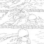 דף צביעה שחיית פרפר באולימפיאדה