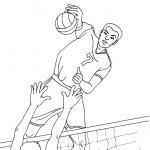 דף צביעה כדורעף באולימפיאדה