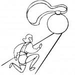 דף צביעה ריצה למדליה אולימפית