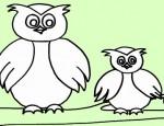 לחצו על דפי הצביעה של ינשופים להגדלה ולהדפסה