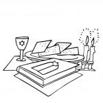 דף צביעה שולחן הסדר