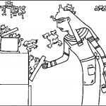 דף צביעה פסח - מכת צפרדעים