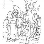 דף צביעה משה והסנה