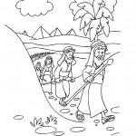דף צביעה יציאת מצריים