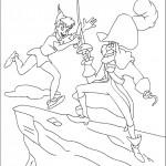 דף צביעה דו קרב בין קפטן הוק לפיטר פן