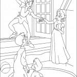 דף צביעה פיטר פן מזמין את וונדי