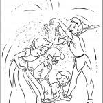 דף צביעה פיטר פן מפזר אבקת קסמים