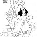 דף צביעה קפטן הוק בספינתו