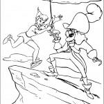 דף צביעה פיטר פן וקפטן הוק נלחמים