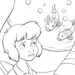 דף צביעה וונדי פוגשת בדגים