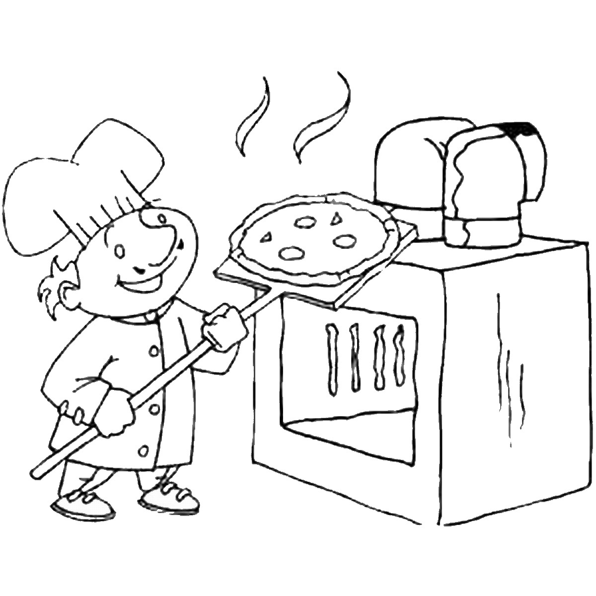 free pizza coloring coloring pages