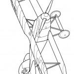 דף צביעה מטוס 3