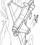 דף צביעה מטוס 1