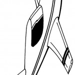 דף צביעה מטוס 4