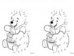 לחצו על דפי חיבור המספרים לתמונה להגדלה ולהדפסה כנסו לדפי צביעה פו הדוב