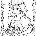 דף צביעה נסיכה 44