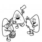 דף צביעה אוזני המן