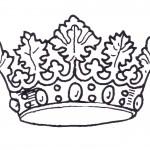 דף צביעה כתר מלך 3