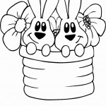 שני ארנבים ושני פרחים בסלסילה