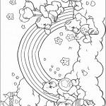 דף צביעה קשת בענן 10