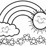 דף צביעה קשת בענן 7