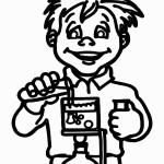 דף צביעה ילד שופך נוזל למבחנה 1