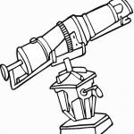 דף צביעה טלסקופ לצפייה בכוכבים
