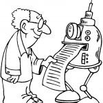 דף צביעה חוקר מוציא מהרובוט הדפסה