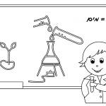 דף צביעה מורה בשיעור מדע