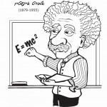 דף צביעה אלברט איינשטיין