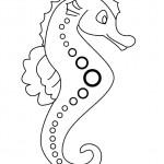 דף צביעה סוס ים 16