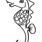 דף צביעה סוס ים 8