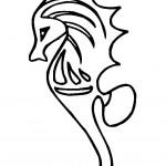 דף צביעה סוס ים 7