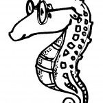 דף צביעה סוס ים 5