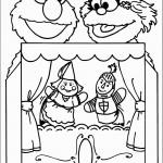 דף צביעה זואי ואלמו בתאטרון בובות