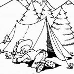 דף צביעה עוגיפלצת בונה אוהל