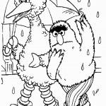 דף צביעה טלי וציפורת מטיילים בגשם