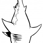 דף צביעה כריש 1