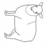 דף צביעה כבשה 3