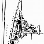 דף צביעה אוניה 1