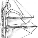 דף צביעה סירת מפרש 1