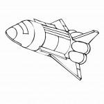 דף צביעה חללית 2