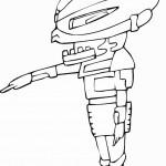 דף צביעה חייזר רובוטי