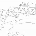 דף צביעה לוויין 2